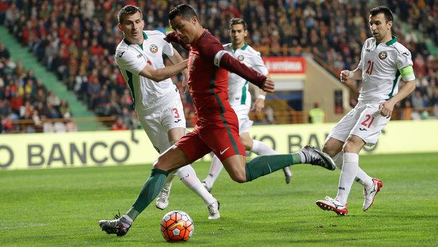 Blamage für Portugal - Schwarzer Abend für Ronaldo (Bild: AP)