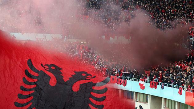 Pyro-Wirbel um Albanien-Fans! 1000 Einsatzkräfte (Bild: GEPA 2, grafik)
