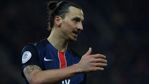 Zlatan Ibrahimovic: Wechsel in die Premier League? (Bild: AFP)