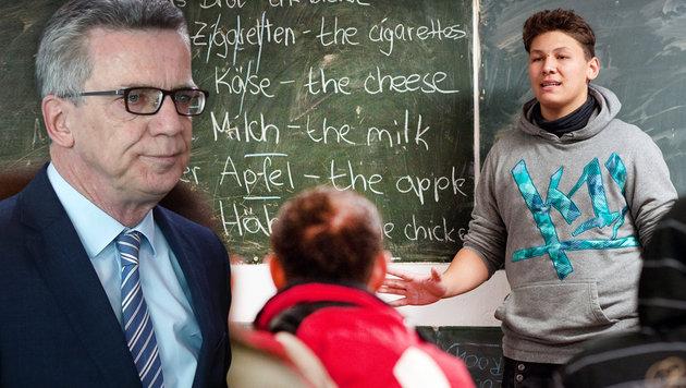 De Maiziere: Deutschkurs oder Abschied (Bild: AP, APA/dpa/Klaus-Dietmar Gabbert)