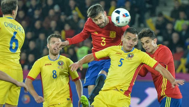 Europameister Spanien nur 0:0 gegen Rumänien (Bild: AFP)
