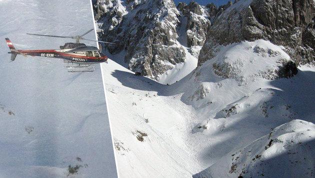 Im freien Skiraum beim Griesner Kar auf rund 1865 Metern Seehöhe donnerte die Lawine Richtung Tal. (Bild: Zoom-Tirol)