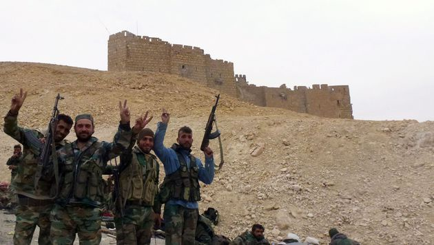 Syrische Armee eroberte Palmyra vollständig zurück (Bild: APA/AFP/MAHER AL MOUNES)