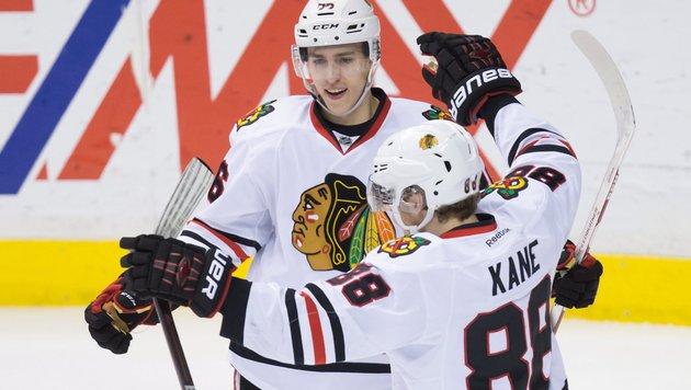 NHL: Chicago Blackhawks fixieren Play-off-Einzug (Bild: AP)
