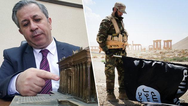 Palmyra zurückerobert: Wie viel ist noch übrig? (Bild: AFP)