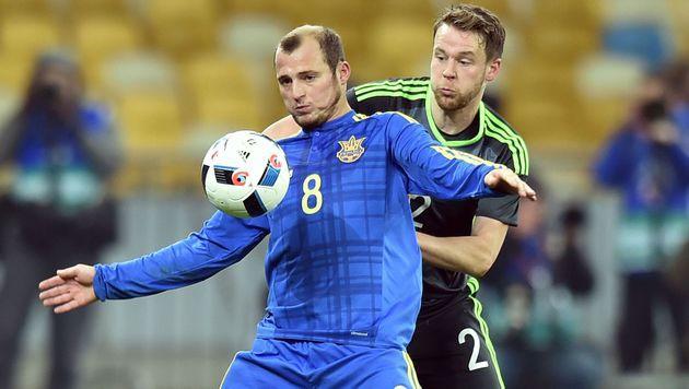 Wales unterlag Ukraine in EM-Testduell knapp 0:1 (Bild: AFP)