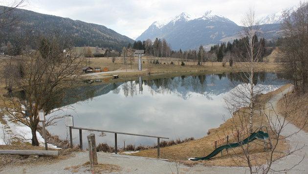 Das Opfer brach an diesem Teich im Eis ein. (Bild: Iris Wind)