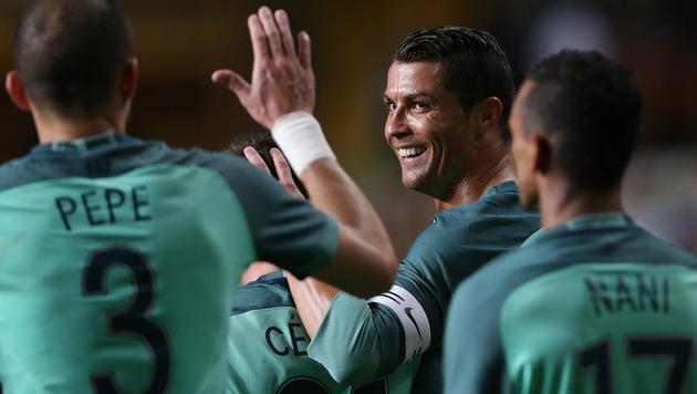 Portugal besiegt Belgien mit 2:1 (Bild: AP)
