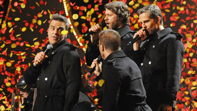 Robbie Williams geht mit Take That auf Tour (Bild: Retna Pictures/EPA/picturedesk.com)