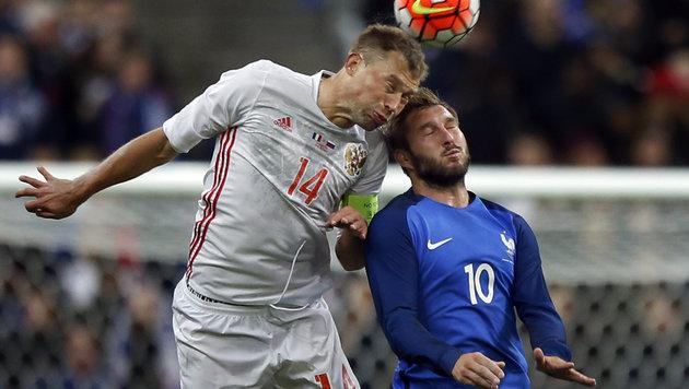 Russlands Beresutski gegen Frankreichs Gignac (Bild: AP)
