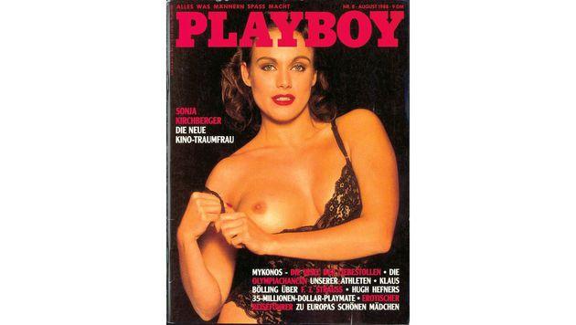 "Sonja Kirchbergers erstes ""Playboy""-Cover (Bild: Playboy)"