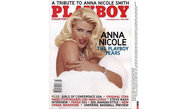 "Anna Nicole Smith am Cover des ""Playboy"" (Bild: Viennareport)"