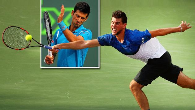 Super-Thiem verlangte Djokovic alles ab! (Bild: AFP)