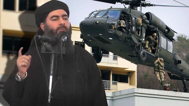 US-Spezialeinheit auf der Jagd nach dem IS-Kalifen (Bild: AFP/HO AL-FURQAN MEDIA, AFP)