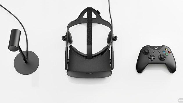 In der Oculus-Rift-Box liegen neben der Cyberbrille auch Gamepad und Tracking-Kamera. (Bild: Oculus VR)