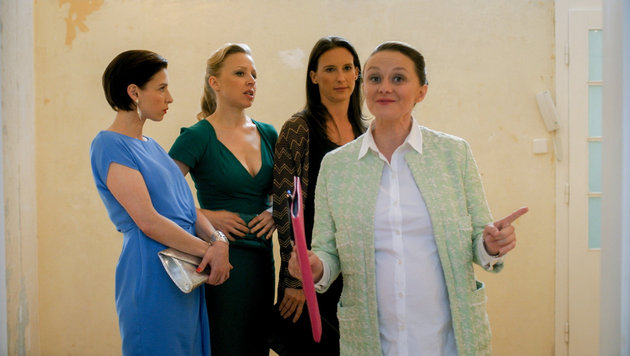 Martina Ebm (Caro), Nina Proll (Nicoletta), Maria Köstlinger (Waltraud), Gerti Drassl (Maria) (Bild: ORF)
