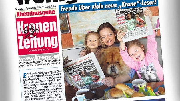 """2.335.000 Leser! """"Krone"""" weiter klare Nummer eins (Bild: """"Krone"""")"""