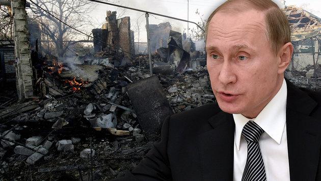 Welche Rolle spielt Kremlchef Putin in der Ostukraine? (Bild: APA/AFP/POOL/KIRILL KUDRYAVTSEV, APA/AFP/ANATOLII STEPANOV)