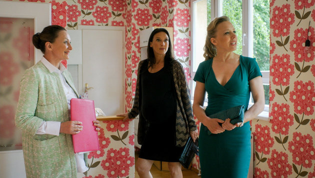 Gerti Drassl (Maria Schneider), Maria Köstlinger (Waltraud Steinberg), Nina Proll (Nicoletta Huber) (Bild: ORF)