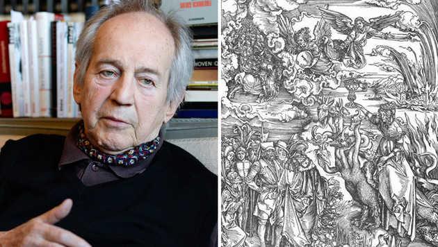 """Aus Otto Schenks Villa ist Dürers """"Die Hure Babylon"""" gestohlen worden. (Bild: APA/HERBERT NEUBAUER, BMI)"""