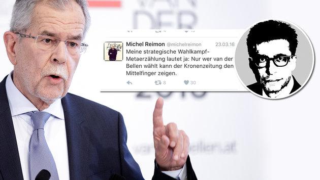 """Grüne machen Wahl zur Abstimmung über die """"Krone"""" (Bild: APA/GEORG HOCHMUTH, twitter.com, Krone)"""