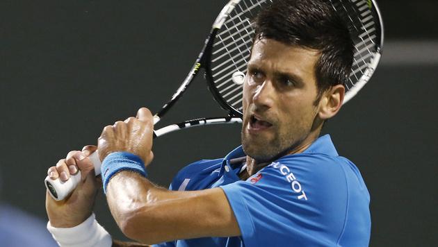 Novak Djokovic steht im Halbfinale von Miami (Bild: AP)
