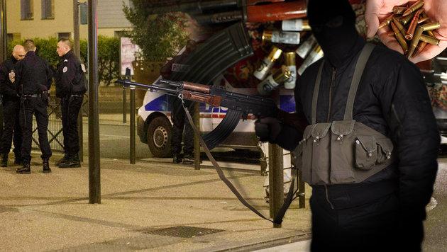 """Waffenarsenal """"von beispielloser Größe"""" entdeckt (Bild: APA/AFP/GEOFFROY VAN DER HASSELT, thinkstockphotos.de, AFP)"""