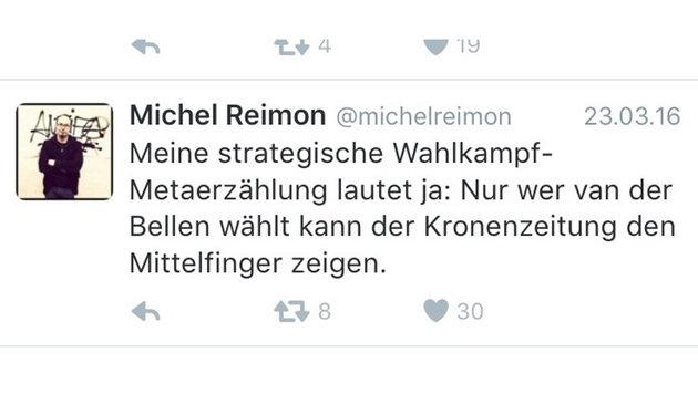 """Grüne machen Wahl zur Abstimmung über die """"Krone"""" (Bild: twitter.com)"""