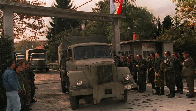 Karlovac 1991 (Bild: PETER NORTHALL/AFP/picturedesk.com)