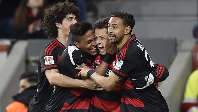 Bayer Leverkusen besiegt VfL Wolfsburg mit 3:0 (Bild: AP)