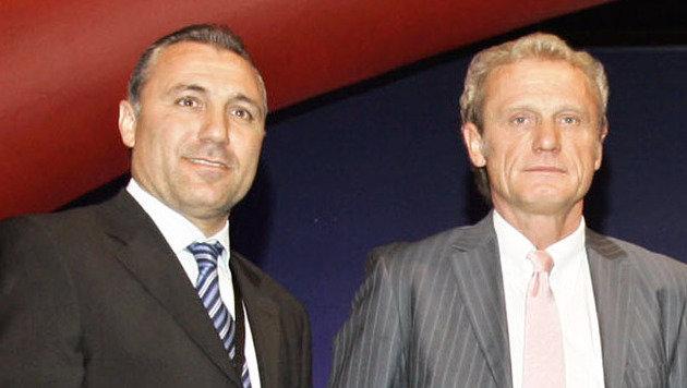 Hristo Stoichkov (links im Bild) (Bild: GEPA)