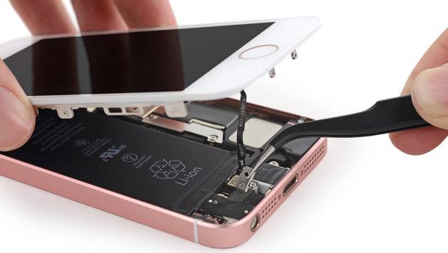 Zerlegt: Das steckt in Apples neuem iPhone SE (Bild: ifixit.com)