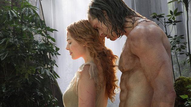 Margot Robbie als Jane und Alexander Skarsgard als Tarzan (Bild: Viennareport)