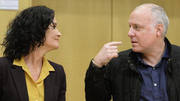 Eva Glawischnig und Bundesgeschäftsführer Stefan Wallner bei einer Klubklausur der Grünen (Bild: APA/ROBERT JAEGER)