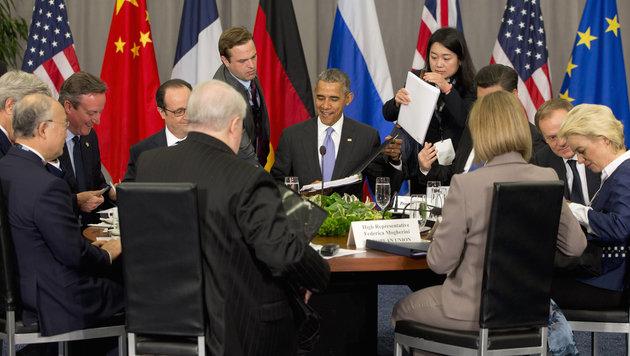 Barack Obama beim internationalen Gipfel zur nuklearen Sicherheit in Washington (Bild: Associated Press)