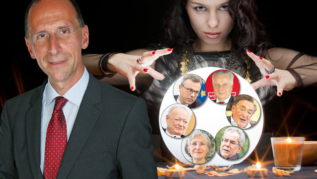 """Hofburg-Wahl: """"Niemand kann wissen, wer gewinnt"""" (Bild: Martin Jöchl, Krone Grafik)"""