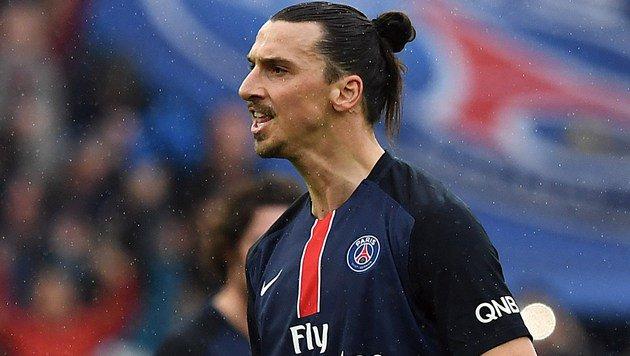 Ibrahimovic-Gala beim 4:1-Sieg von PSG gegen Nizza (Bild: APA/AFP/FRANCK FIFE)