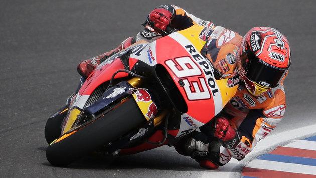 """Marquez in Argentinien auf der """"Pole"""" vor Rossi (Bild: AP)"""