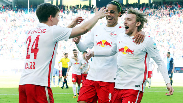 RB Leipzig holt mit 3:1 gegen Bochum Rang 1 zurück (Bild: GEPA)