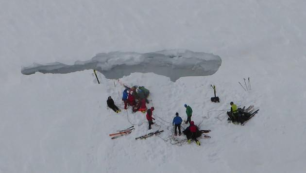 35-Jähriger in Gletscherspalte gestürzt - tot (Bild: LPD Matrei)