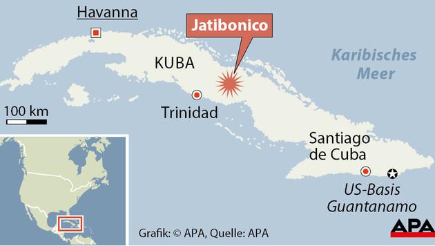 Busunglück in Kuba: 1 Österreicher tot, 7 verletzt (Bild: APA)
