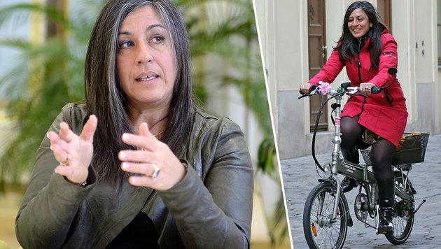 Maria Vassilakou auf Fahrrad von Auto gerammt (Bild: APA/ROLAND SCHLAGER, Klemens Groh)