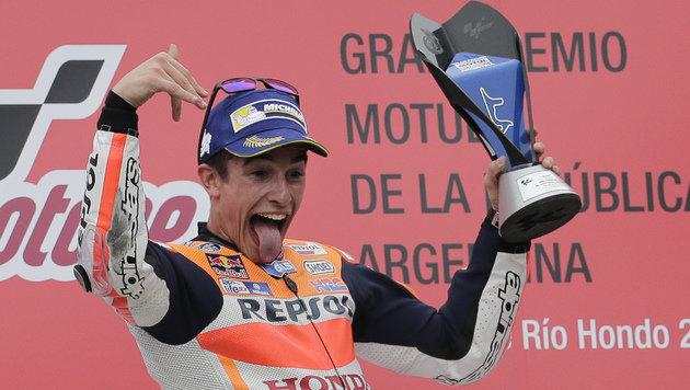 Marquez gewinnt turbulenten Argentinien-GP (Bild: AP)