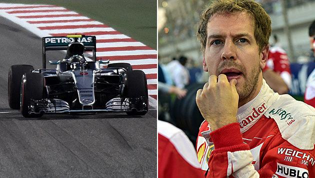 Rosberg gewinnt GP ++ Vettel schon vor Start out! (Bild: APA/AFP/MOHAMMED AL-SHAIKH, APA/AFP/ANDREJ ISAKOVIC)