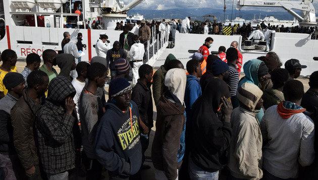 Migranten aus Afrika (Bild: AFP)