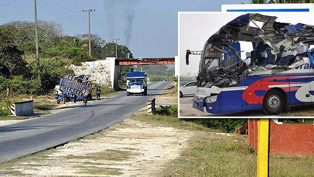 Busunglück in Kuba: 1 Österreicher tot, 7 verletzt (Bild: APA/ESCAMBRAY/VICENTE BRITO)