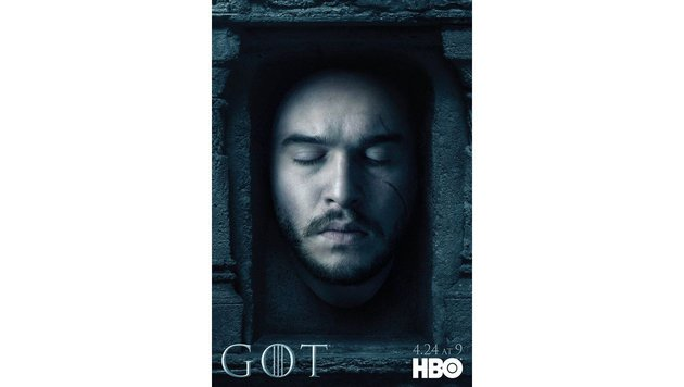 """Kit Harington in der """"Halle der Toten"""" auf einem Werbesujet für die neue """"Game of Thrones""""-Staffel. (Bild: Viennareport)"""