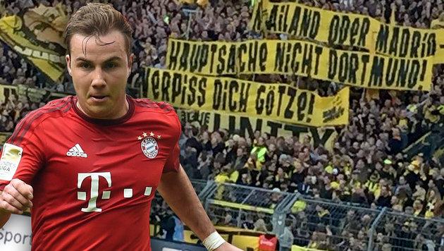 """Verpiss dich!"" Mario Götze von BVB-Fans beleidigt (Bild: APA/AFP/CHRISTOF STACHE, twitter.com)"