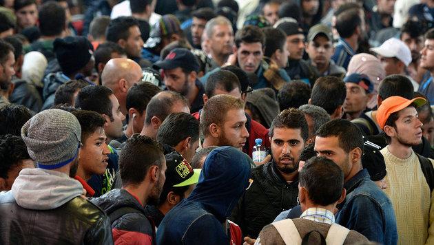 500.000 Migranten in Deutschland untergetaucht (Bild: APA/AFP/CHRISTOF STACHE)