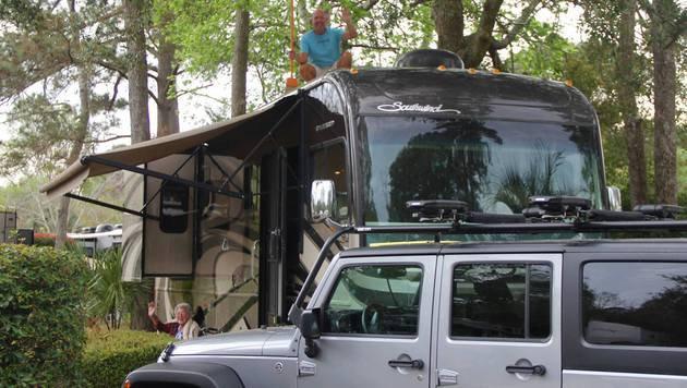 Das Wohnmobil, mit dem Norma Bauerschmidt unterwegs war (Bild: facebook.com/DrivingMissNorma)